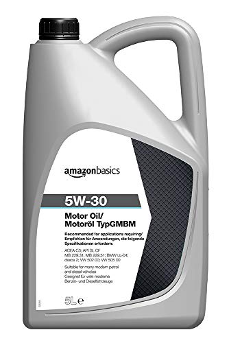 Amazon Basics – Motorenöl 5W-30 Typ GMBM, 5 l