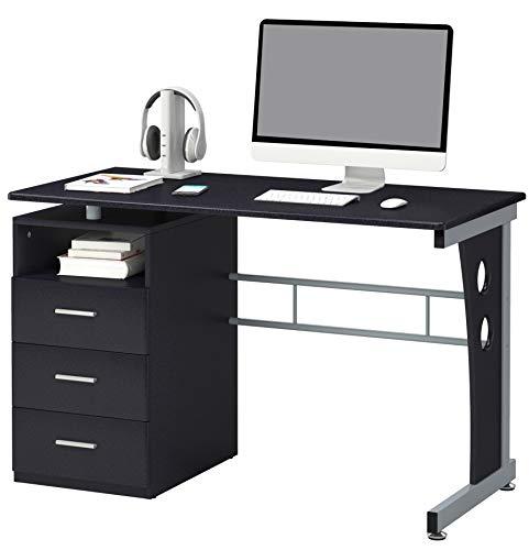 SixBros. Office - Scrivania Porta pc Tavolo Ufficio Colore Nero - S-352/2072