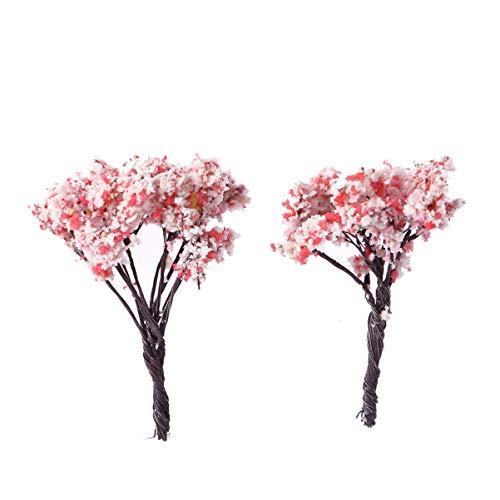 HEALLILY 10 piezas en miniatura de plantas de hadas en miniatura para jardín, decoración de casas de muñecas, macetas, musgo, bonsái, micropaisaje, manualidades, decoración de jardín (Sakura)