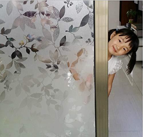 LMKJ Puerta corredera/Ventana película electrostática Pegatina de Vidrio para Ventana Hoja autoadhesiva película para Sala de Estar película para decoración del hogar A33 60x200cm