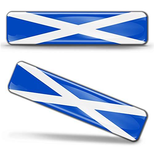 2 x sticker 3D gel siliconen stickers Scotland vlag Schotland vlag vlag vlag vlag vlag autosticker F 20