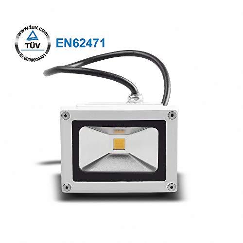 Projecteur à LED 10W Blanc 900LM IP65 boîtier blanc TUV