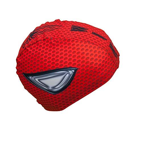 Bonnet de Natation Revo Cap Spiderman | Bonnet en Tissu| Bonnet de Bain pour Homme, Femme et Enfant | Bonnet de Piscine | Grand Confort et Adhérence| Fabriqué en Italie