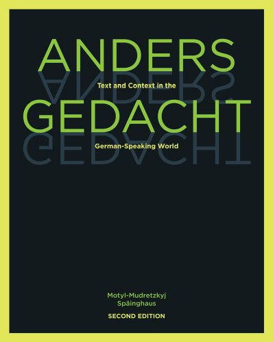 Anders gedacht: Text and Context in the German-Speaking...