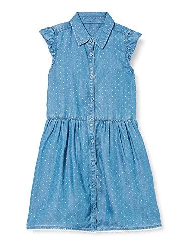 s.Oliver Junior Mädchen 403.10.105.26.200.2101432 Kinderkleid, Blue, 128