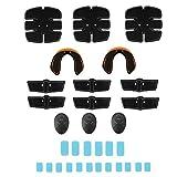 Fauge 14 / Set Abs Estimulador Muscular Equipo de Entrenamiento Entrenador de Cadera Ajuste de Cuerpo Completo con Almohadilla de Gel de Repuesto de 18 Piezas