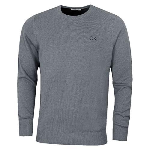 Calvin Klein Golf Herren Rundhals-Tour Sweater - Grau Marl - L