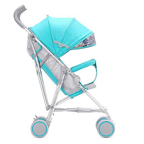 TY-Baby trolley Mmm @ Chariot de Portage de Chariot Pliable de Buggy portatif Ultra-léger d'alliage d'aluminium de Chariot à bébé Chariot ( Color : Bleu )