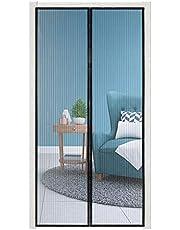 wolketon Magnetisch vliegengaas, deur, insectenwering, 120 x 240 cm, automatisch sluiten, voor balkondeur, kelderdeur, terrasdeur, eenvoudige montage zonder boren, zwart
