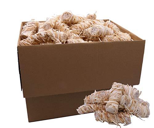 kör4u Anzündwolle 2,5kg - Bioanzünder in Wachs getränkt mit 10 Minuten Brenndauer | Anzünder Kaminanzünder Holzanzünder Grillanzünder Holzkohle Briketts Ofenanzünder Kaminholz Holzwolle