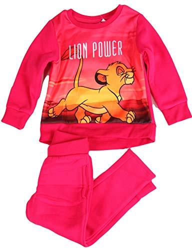 König der Löwen meisje joggingpak sweatshirt + broek kinderen 3 4 6 8 jaar 98 104 116 128 cm roze pyjama pyjama pyjama huispak Lion Power