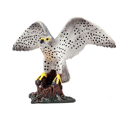 FLORMON Figuras de pájaros Realista Halcón peregrino Set de Juguetes de Animales Simulado Juguetes de plástico de Modelos de Animales Aprendiendo Juguetes educativos para niñas niños pequeños