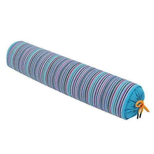 Renhe Neck Roll Pillow Buckwheat Filled Roll Bolster Pillows Stripe...