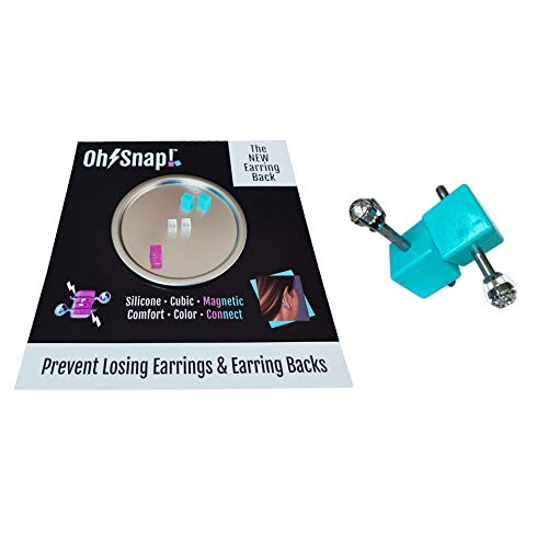 Clear & Colors Set Earring Backs for Studs & Lightweight Earrings – Magnetically-Locking Earring Backs – Silicone Secure Comfortable No-Poke Fit – Tight Earring Backs Secure Enough for Travel