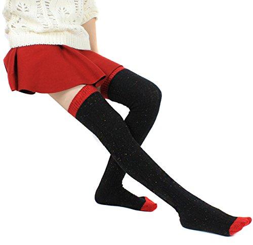 Butterme Winter Stricken Leg Warmer Kniestrümpfe Thigh High Boots Strümpfe Lange Overknee Strümpfe