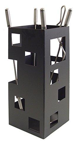 Imex El Zorro 10029 Juego para Chimenea, Cuadrado (útiles de INOX, 50 x 20 x 20 cm)