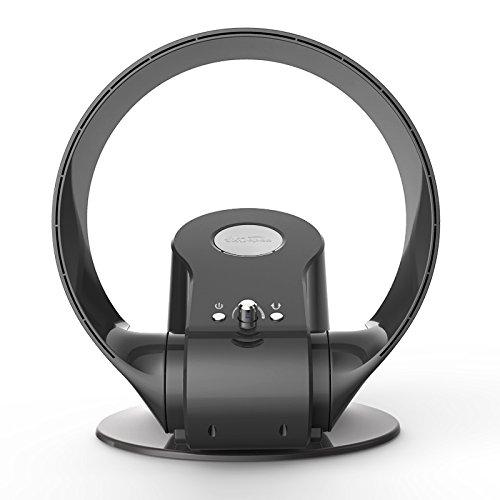 SMYH 2 Pcs Silencioso Luftmultiplicator con 3 velocidades + mando a distancia + Timer + Ahorro de energía, Hojas Cooling Ventilador para el hogar Office 110V/220V, gris, 110V