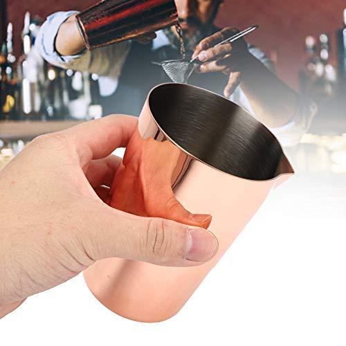 Taza mezcladora de cóctel, taza de cóctel de acero inoxidable Copa de mezcla de agitación de vino para beber 500 ml para herramienta de barman de fiesta en casa(Rosa de oro)