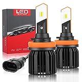 H8 / H9 / H11 LED Faros de coche, lámpara de automóvil de rango óptico 200M Auto, + 200% Lámparas halógenas de brillo, disipación de calor, impermeable IP68, faros de voltaje de 9V - 36V