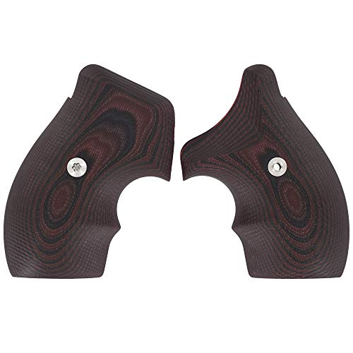 VZ Grips Smith & Wesson J-Frame 320 Gun Grip, Concealed Carry and Everyday, Superior Comfort, Superior Control, Made in The USA, Black Cherry, 2 Panels