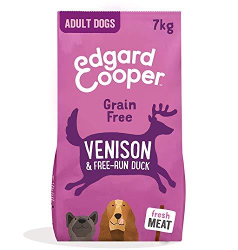 Edgard & Cooper Frisches Hirsch & Freilandente - Getreidefrei trockenfutter fur Erwachsene Hunde (7 kg)