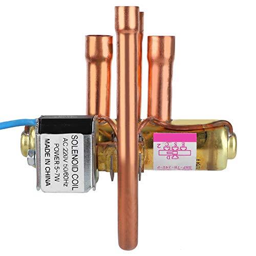Accesorios de Mantenimiento Servicio de refrigeración Válvula de Cuatro vías, Válvula de inversión de Aire Acondicionado, Válvula de inversión para Mantenimiento...