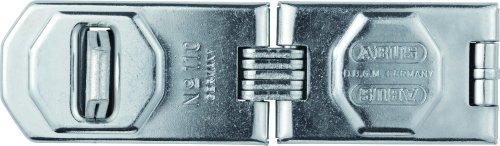 ABUS Gelenk-Überfalle 110/155 - Vorrichtung für Vorhängeschlösser - für aufschlagende Türen und Ecklösungen - 02994 - Level 8 - Silberfarben