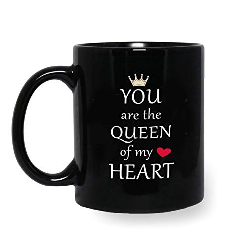 iKraft® Coffee Mug Gift for Her, You are The Queen of My Heart Printed Coffee Mug Gift for Wife, Sister, Mother, Girlfriend, Fiance