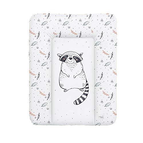 Ceba Baby Wickelauflage weiche Wickelunterlage Baby Wickeltischauflage Abwaschbar 50x70 Raccoon