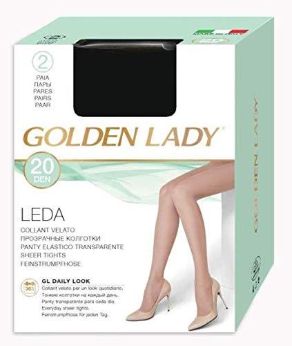 GOLDEN LADY COLLANT LEDA 20 DENARI TAGLIA 4 COLORE VISONE 2 PAIA
