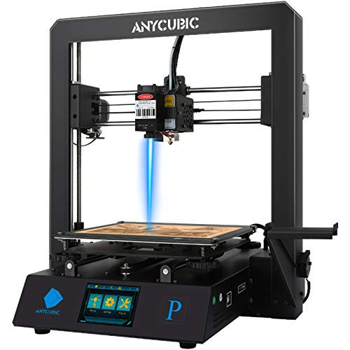 ANYCUBIC Mega Pro FDM 3D Printer, 4th Gen 3D Printing & Laser Engraving 2 in 1 Filament 3D Printer with Smart Auxiliary Leveling, Print Size 8.27'' x 8.27'' x 8.07'' & Engraving Size 8.67'' x 5.5''