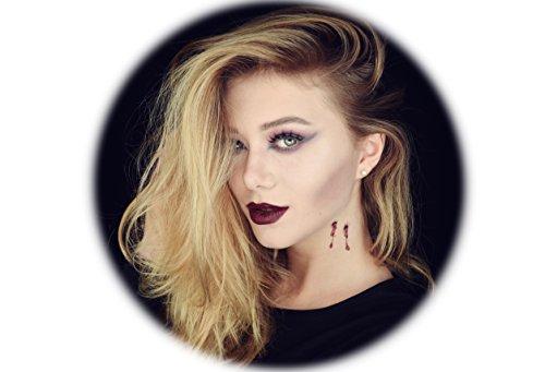 Tattoocrew® 6 x Halloween Tattoos Vampir Biss temporär zum Aufkleben