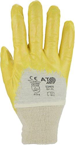 ASATEX Nitril-Handschuh 03400, gelb, Gr. 10 (12 Paar)
