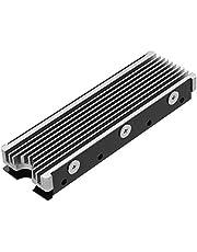 M.2 2280mm SSD両面ヒートシンク、PC / PS5用サーマルシリコンパッド付きM.2 PCIE NVMe SSD (銀色)