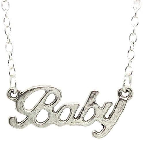 Bluebubble Baby Love Silver Word Necklace Box