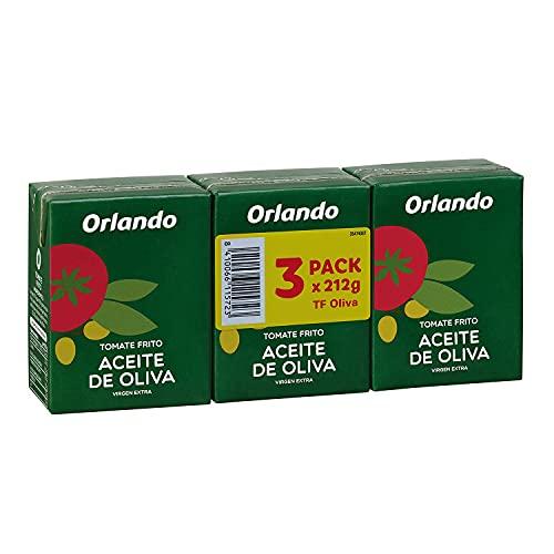 ORLANDO Tomate Frito Aceite de Oliva Virgen Extra Brikde 3 x 210g