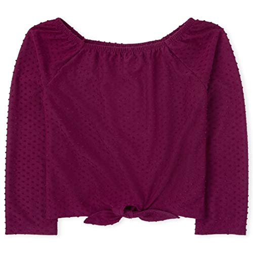 The Children's Place Mädchen Square Neck Tie Front Top Hemd, Rosenparade, XL