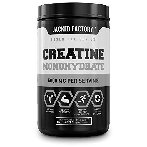 Creatine Monohydrate Powder 5g - Premium Creatine Supplement for Muscle Growth, Increased Strength, Enhanced Energy Outpuand Improved Athletic Performance - 85 Servings, Unflavored