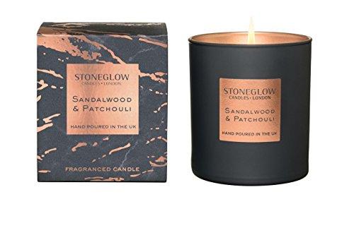 StoneGlow Seasonal Scents Luna Sandalwood & Patchouli Tumbler Candle Boxed