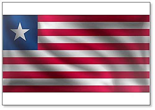 Kühlschrankmagnet, Motiv Waving Liberia Flagge