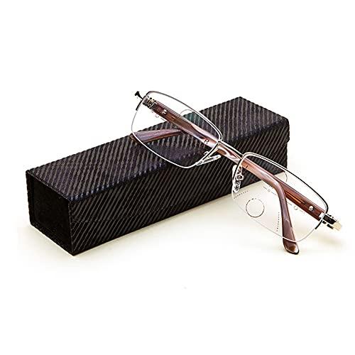 Progressieve Leesbril Met Meervoudige Focus, Bril Met Twee Doelen Voor Dichtbij En Veraf, Anti-blauwe Anti-vermoeidheidslezers, Geschikt Voor Tv Kijken En Lezen(Size:2.5X)