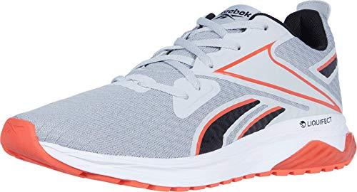 Reebok Men's LIQUIFECT 180 SPT Running Shoe, Pure Grey/Black/Vivid Orange, 10.5 M US