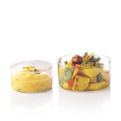 Borosil Katori Bowl - Premium 6 Piece Glass Set - Ultra Durable, Odor Proof, Fade Proof, Stronger Than Glass, Oven Safe, Flame Proof