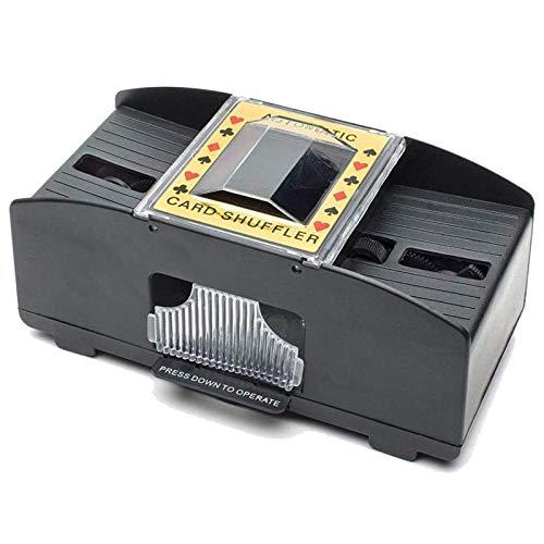 9Lucky Tech Automatischer Poker-Kartenmischer, 1–2 Decks Poker-Shuffles Kartenmischmaschine, batteriebetriebener elektrischer Shuffler für Zuhause, Party, Club, Familienspiel (1–2 Decks)