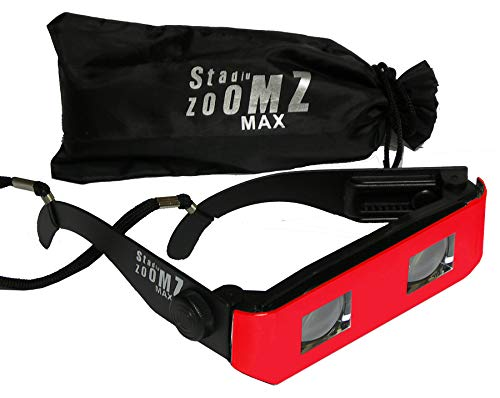 Team Colors Binocular Glasses - Red. Telescope Lenses, Zoom in for Sports,Concerts,etc