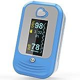 MED LINKET Oxymètre de pouls avec sonde de température, Oxymètre SPO2 PR précise Alarme Mètre écrans OLED pour Daily Sports Fitness