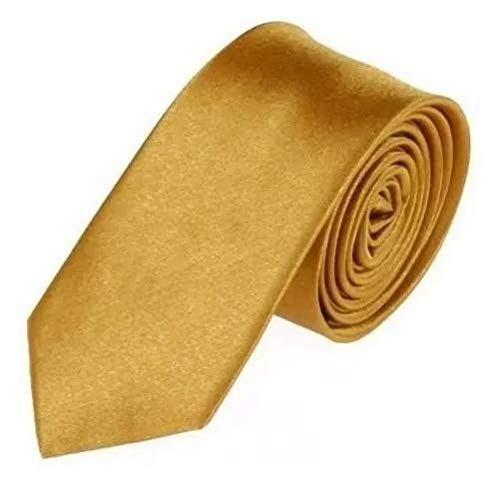 Gravata Slim Fit Sport (Dourado)