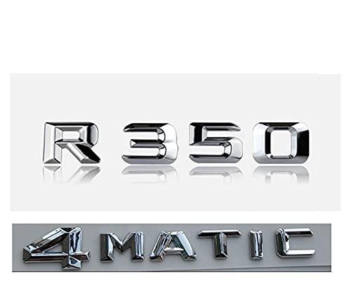 Letras Emblema Cartas de Cromo badga troncal emblemas emblemas Insignias aptas for R350 4MATIC (Color : R350 4MATIC)