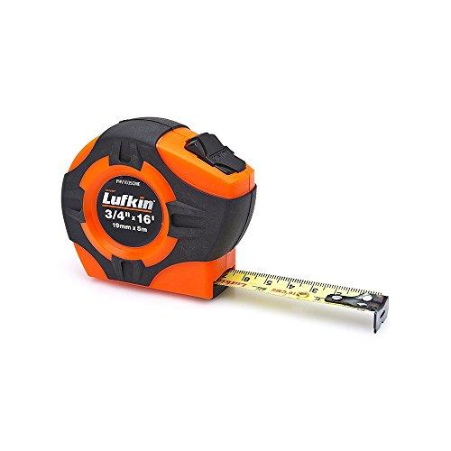 "Crescent Lufkin 3/4"" x 5m/16' P1000 Series Hi-Viz Orange SAE/Metric Yellow Clad A30 Blade Power Return Tape Measure - PHV1035CMEN"