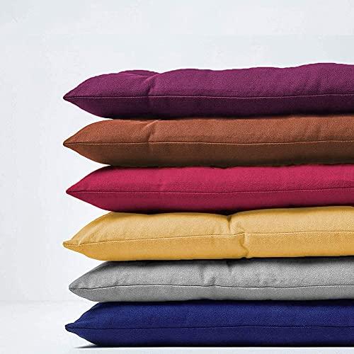 jHuanic Cojín de banco para interiores y exteriores, 100/120 cm, cojines de banco de jardín, 2 3 plazas, cojín largo para cojín de asiento para chaise Swing Patio (155 x 53 cm), color morado